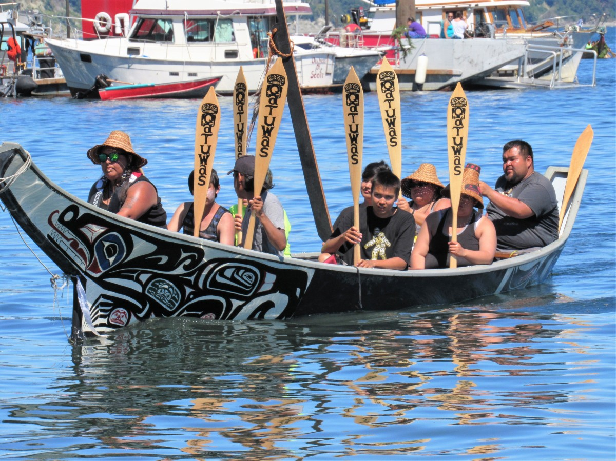 A Beautiful Day for the Tribal Canoe Journey